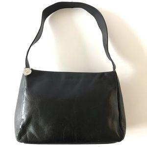 The Sak Soft Black Leather Shoulder Bag